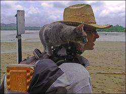 Guillaume et Kitty, le chat globe-trotter